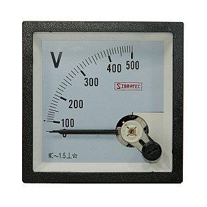 Voltímetro Analógico 0-500VCA 72x72mm