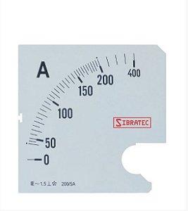 Escala para Amperímetro 72mm 0-200A
