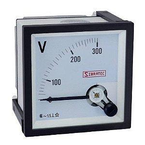 Voltímetro Analógico 0-300Vca 72x72mm