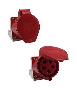 Tomada Industrial Sobrepor 125 32A 6H 380-415V 3P+N+T VM