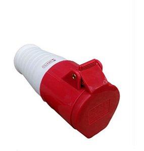 Tomada Industrial Pendente 214 16A 6H 380-415V 3P+T Vermelha