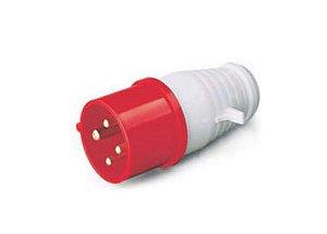 Plugue Tomada Industrial 3P + T 6H 380VAC 32A Vermelho IP44
