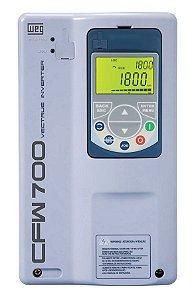 Inversor de Frequência Weg CFW700 Tri 40cv 58,5A 380V ou 440V