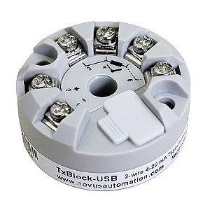 Transmissor de Temperatura Novus TXBLOCK USB 4 a 20mA