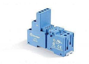 Base para Relé Finder Séries 55 e 85 para Montagem Trilho DIN35