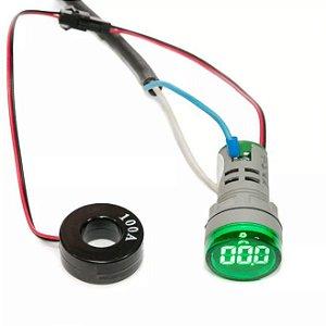 Amperimetro Digital Sibratec 22mm 0-100A CA Verde