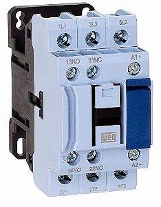 Contator Tripolar CWB38-11-30C03 38A 24VDC 1NA+1NF Weg