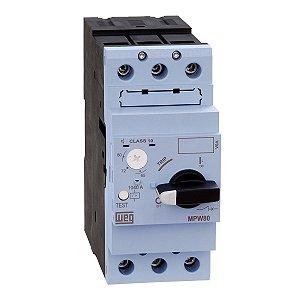 Disjuntor Motor AZ MPW80-3-U065 Tripolar Ajuste 50-65A Weg