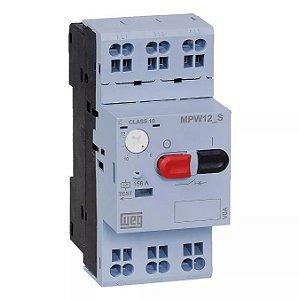Disjuntor Motor Tripolar Weg MPW12 Ajuste 8-12A