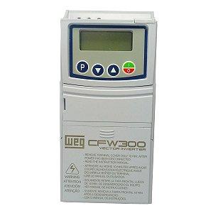 Inversor de Frequência Weg CFW300 Mono 0,25cv 1,6A 220V