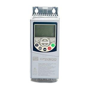 Inversor de Frequência Weg CFW500 Tri 1,5cv 2,6A 380V ou 440V C/P-IOS