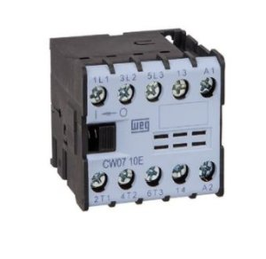 Mini Contator Tripolar 7A CW07-10-30V40 380Vac 1NA Azul Weg