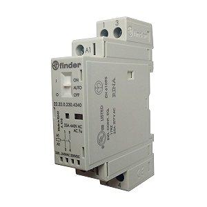 Contator Relé Modular Finder 230V 2NA 25A
