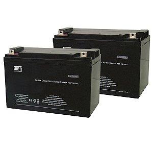 KIT C/ 2 Bateria Selada Weg VRLA 9Ah 12V