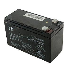 Bateria Selada Weg para Nobreak Alarme VRLA 9Ah 12V