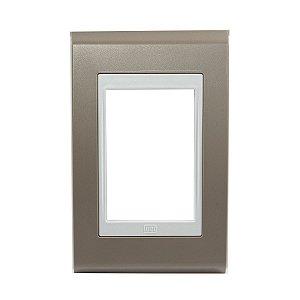 Placa 4x2 3 posiçoes Refinatto Weg Argila e Branco