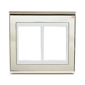 Placa 4x4 6 Posicoes Refinatto Weg Ouro e Branco