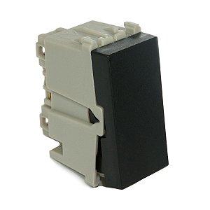 Modulo Interruptor Simples Paralelo com Led 10A Refinatto Weg Preto