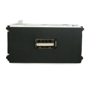 Modulo Tomada Carregador USB Refinatto 127/220V Weg Preto