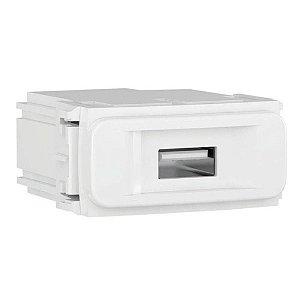Modulo Carregador USB Branco Compose Weg