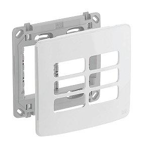 Placa 4x4 6 Posiçoes Branca + Suporte Compose Weg