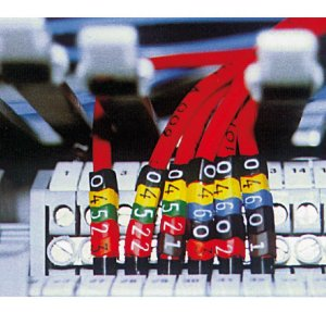 Marcador Plástico MHG - 3/7 6 Azul Hellermann (1000 Unid.)