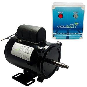 Motor Elétrico c/ Quadro Automação de Piscina 1/2cv ViewTech