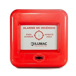 Acionador Manual de Alarme de Incêndio Ilumac 10 a 28 Vcc