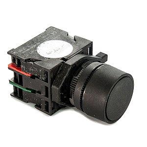Botão de Impulso JHK-211GL Preto 1NA + 1NF Sibratec