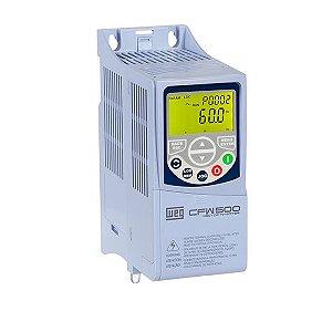 Inversor de Frequência Weg CFW500 Mono/Tri 0,5CV 2,6A 220V C/P-IOS
