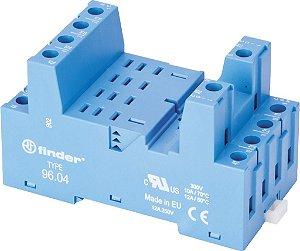 Base para Reles Série 56 Finder para Montagem em Trilho DIN35