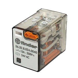 Rele de Potencia Finder Bobina 24Vac 2 Reversíveis 12A 250V