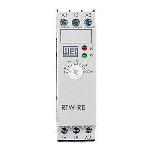 Rele Tempo Weg RTW-RE Retardo na Energ. 180-1800s 24Vac/Vdc