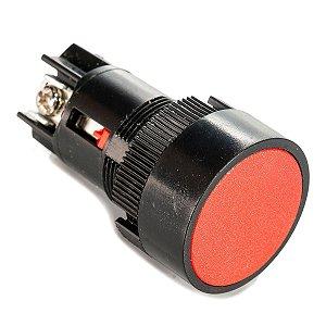 Botão de Impulso Monobloco XB2-EA145VM Vermelho - 01 Contato Reversível