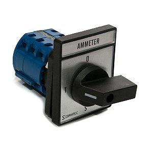 Chave Amperímetro Sibratec R/S/T 4 Posições LW28-20A