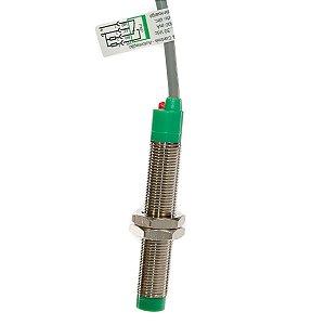 Sensor Indutivo Face Saliente Weg M12 PNP NA+NF 10-30Vcc