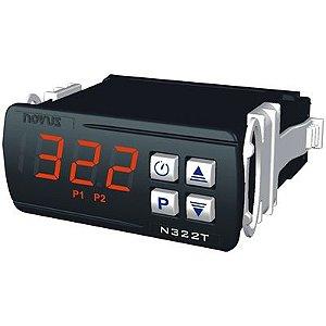 Controlador de Temperatura N322T PT100 Jkt 100-240Vca/cc Novus