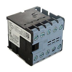 Mini Contator Tripolar AZ CAW04-22-00V0 6A 2NA+2NF 24Vac Weg