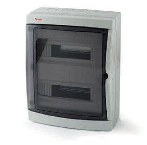 Caixa Plástica IP65 Resistente a Água e Poeira 26 Din