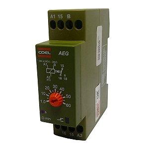 Rele Temporizador Coel AEG 60Seg Retardo Pulso 94-242V e 24V