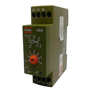 Rele Temporizador Coel AEG 6Min Retardo Pulso 94-242V e 24V