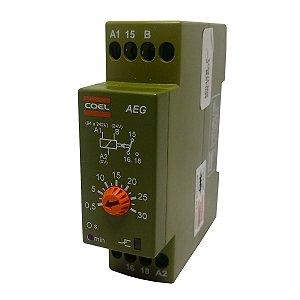 Rele Temporizador Coel AEG 30Min Retardo Pulso 94-242V e 24V