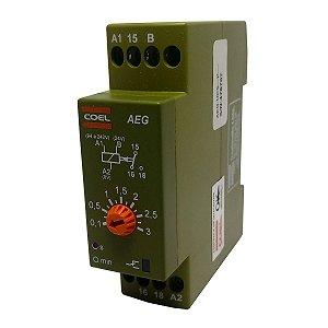 Rele Temporizador Coel AEG 3Seg Retardo Pulso 94-242V e 24V