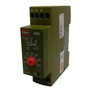 Rele Temporizador Coel AEG 30Seg Retardo Pulso 94-242V e 24V