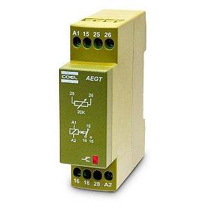 Rele Temporizador AEGTLCS Coel 24Vca/Vcc 3 seg.