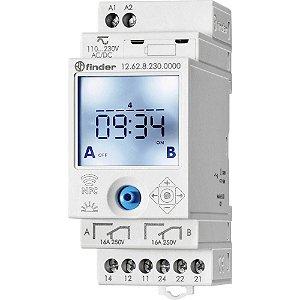 Rele Programador Horario Finder Semanal NFC 2Rev 230Vac