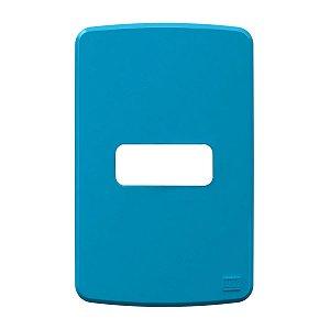 Placa 4x2 1 Posição Azul Compose Weg