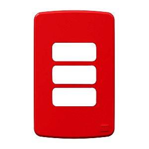 Placa 4x2 3 Posições Vermelha Compose Weg