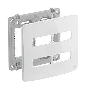 Placa 4x4 4 Posiçoes Branca + Suporte Compose Weg