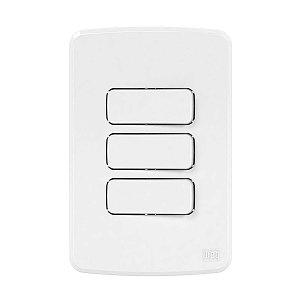 Placa 4x2 Branca + Suporte + 2 Interruptor Simples + 1 Paralelo Compose Weg